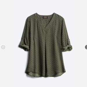 RENEE C Tenora Maternity Blouse, XL, EUC